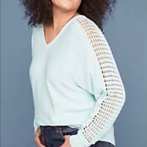 NWT Lane Bryant Laced Sleeve Sweater